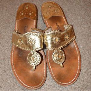 Gold Jack Rogers (Original Sandals)